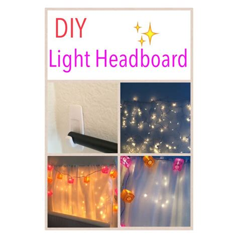 how to add lights to headboard 90 best room decor diy images on pinterest bedroom ideas