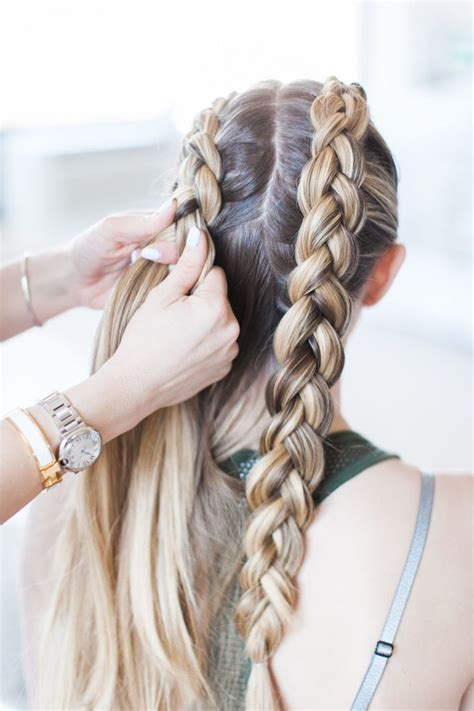 winter hairstyles steps master these double dutch braids in 3 steps less than 5