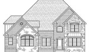 Drawing Of A House With Garage by House Drawings 5 Bedroom 2 Story House Floor Plans With
