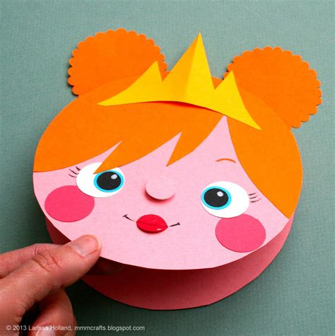 construction paper craft mmmcrafts make a princess card gift tag or a