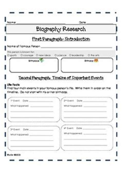 biography template for students 1000 images about reading writing logs for on