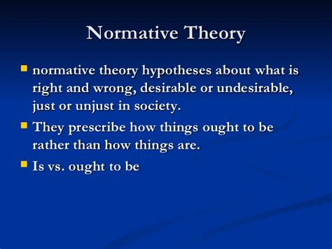 normative pattern definition political theory vs political ideology2