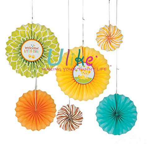 round paper fan decorations decorative standing fans handmade craft polka dot hanging