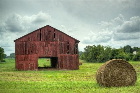 Hay Barn Barn And Hay Bales 1 Photograph By Douglas Barnett