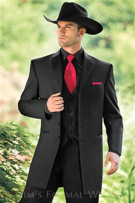 country style wedding tuxedos andrew fezza black western tuxedo country