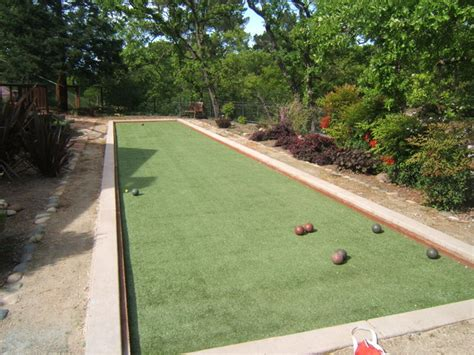 backyard bocce ball court bocce ball courts traditional landscape san
