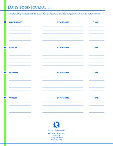 free daily journal template 8 best images of free printable daily food log journal