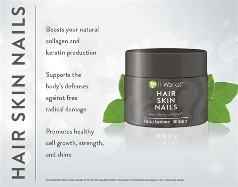 hair skin and nails product review it works hair skin and nails magnetic