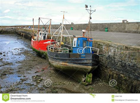 boat license dublin old boats at howth harbour royalty free stock images
