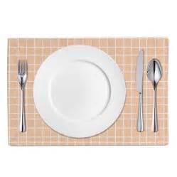 table linen set table linen set thin grid white apricot mintiqe