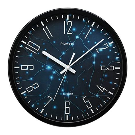 amazon com plumeet large number wall clock 13 silent non ticking plumeet 12 quot silent wall clock with special design and non