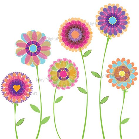 free flower clipart decoration clipart modern flower pencil and in color