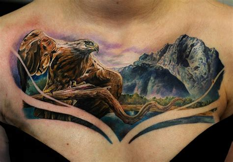 eagle tattoo with mountains eagle mountains best tattoo ideas designs