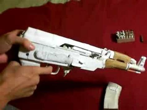 How To Make A Paper Gun Ak 47 - paper ak pistol thing