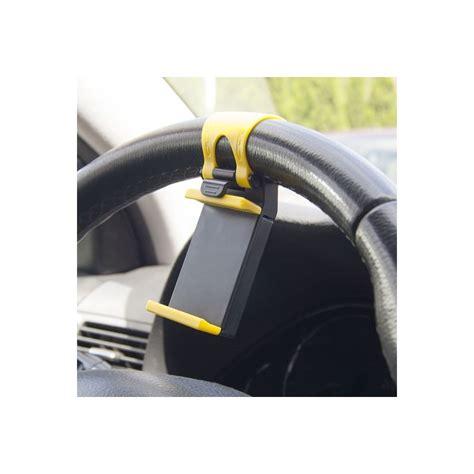 supporto per volante supporto auto universale per smartphone su volante giallo