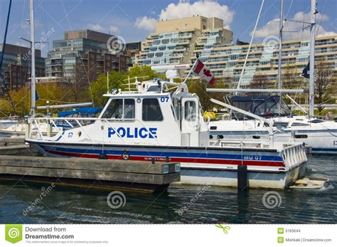 boat flags toronto police boat stock images image 5183644