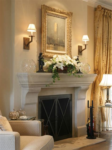 How To Decorate A Fireplace Wall by Sconces Fireplace Houzz