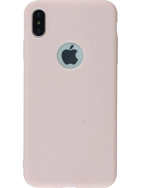 coque iphone xr silicone mat rose clair