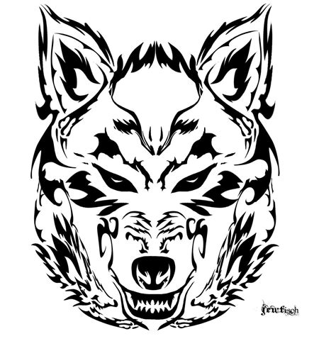 tribal wolf face tattoo tribal wolf search and such