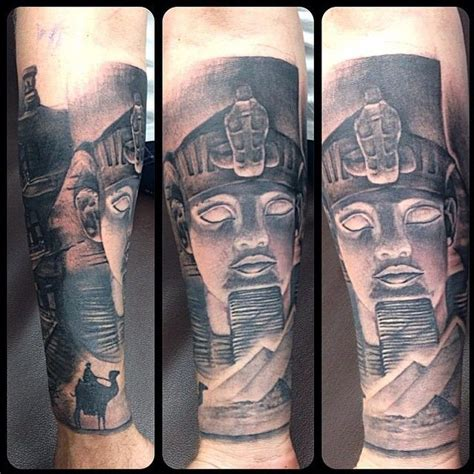 sphinx tattoo sphinx part of a landmarks sleeve in progress by