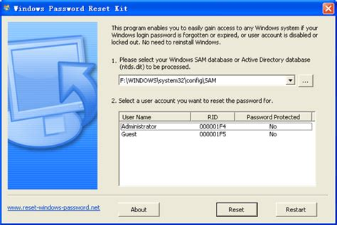 windows password reset kit iso windows password reset kit1 5 free to try systemghost