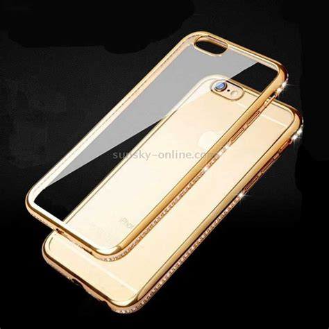 Leather For Iphone 44s55s sunsky for iphone 6 plus 6s plus bling luxury plating pc frame transparent tpu
