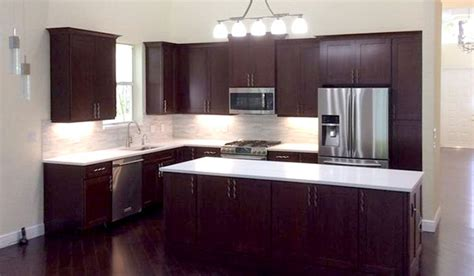 Cherry Cabinets With White Countertops by West Palm Florida Kitchen With Cherry Cabinets