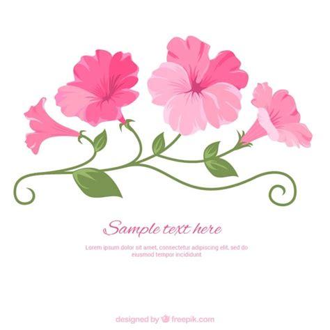 Imagenes De Flores Ilustradas | flores rosas ilustradas descargar vectores premium