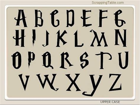 Harry Potter Fonts | harry potter font to use with mtc or scal silhouette