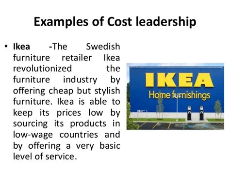 Ikea Furniture Online by Focused Cost Leadership Strategy Strategic Management