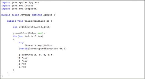 simple java swing program java applet simple animation