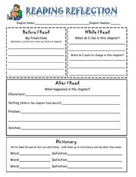 printable reflective journal reading reflection journal by learn grow teach tpt