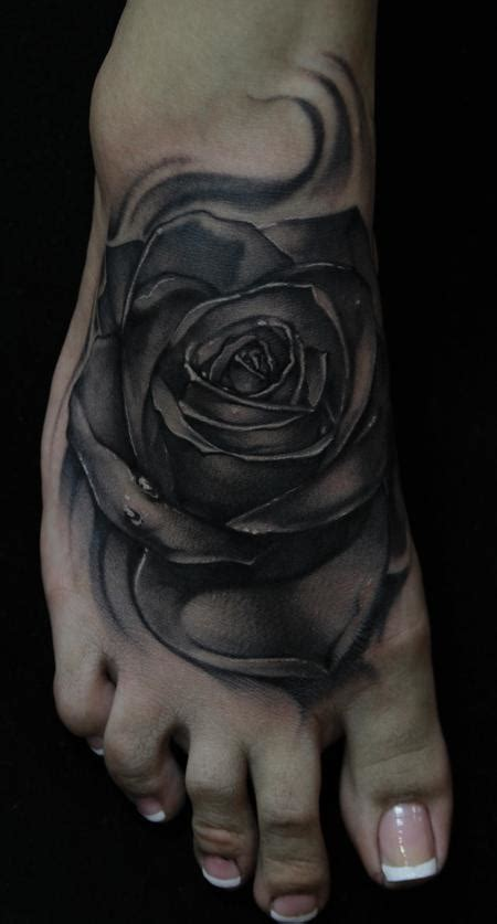 black gray rose tattoos junkies studio tattoos mike demasi black