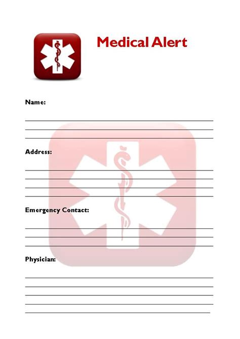 printable medical id cards 8 best images of free printable medical cards free