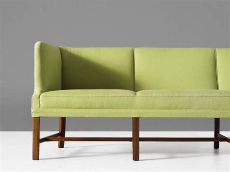 long modern sofa extreme long danish modern sofa in green upholstery for