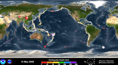 earthquake animation animation by noaa showing off seismic activities around