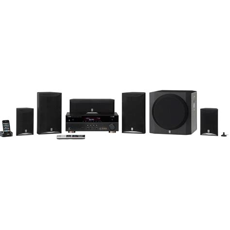 yamaha 5 1 channel home theater in a box system yht 693bl b h