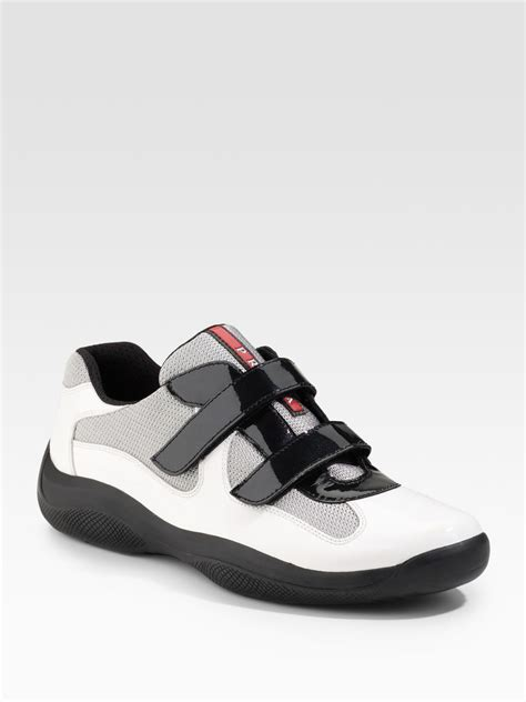 pradas shoes for lyst prada sneakers in white for