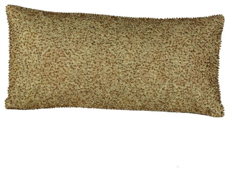 gold beaded pillow gold oblong beaded pillow eclectic pillows by brandi