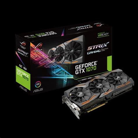 Asus Geforce Gtx 1070 8gb Ddr5 Strix Oc Gaming Fan rog strix gtx1070 o8g gaming graphics cards asus global