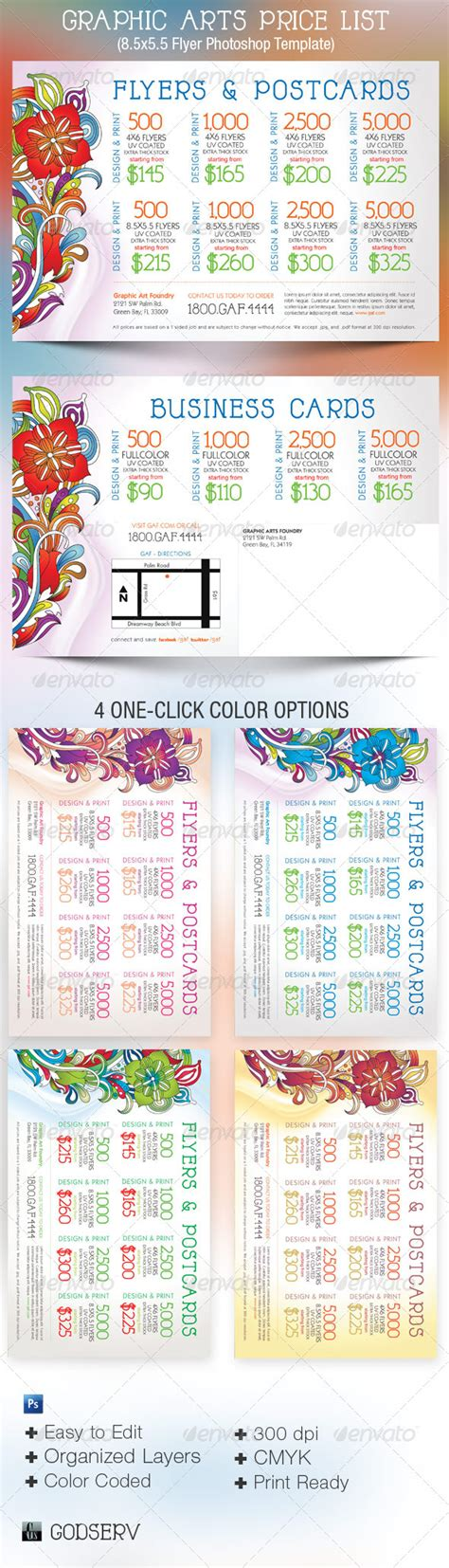 average flyer design graphic cost price graphic arts price flyer and postcard template graphicriver