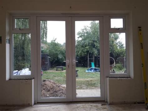 patio doors with side windows details about 1800mm x 2100mm white pvc upvc door