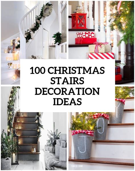 Exceptional Decorating Above Kitchen Cabinets For Christmas #3: 71-awesome-christmas-stairs-decoration-ideas-27.jpg
