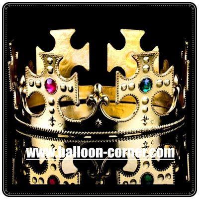 Mahkota Warna Emas Perak Crown Gold Silver mahkota raja untuk pesta ulang tahun dewasa balloon corner
