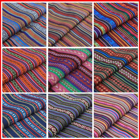 how many meters of fabric for curtains 1 meter stripe tribal ethnic cotton fabric for upholstery