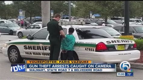 walmart west palm 3 juveniles charged with stealing weapons from royal palm
