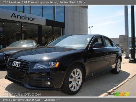 audi a4 2009 black brilliant black 2009 audi a4 2 0t premium quattro sedan
