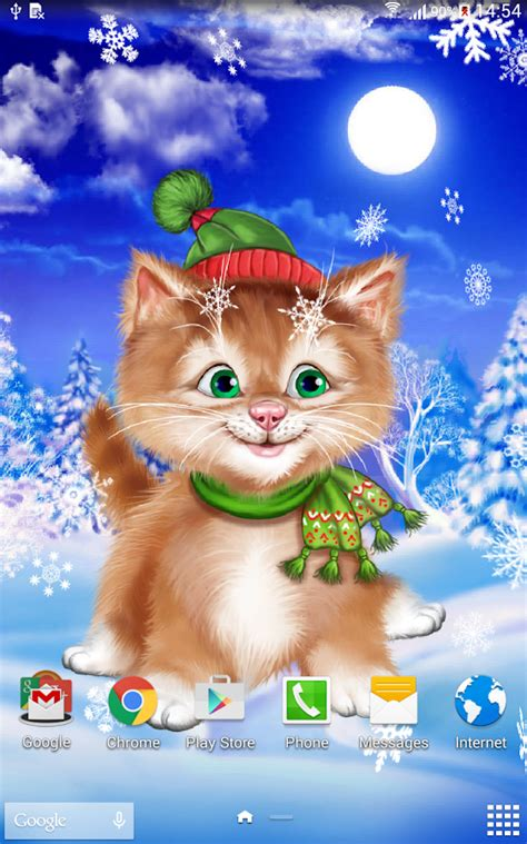 live wallpaper cat apps android winter cat live wallpaper android apps on google play