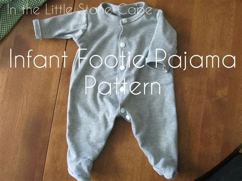 pajama pattern in the cape infant footie pajama pattern