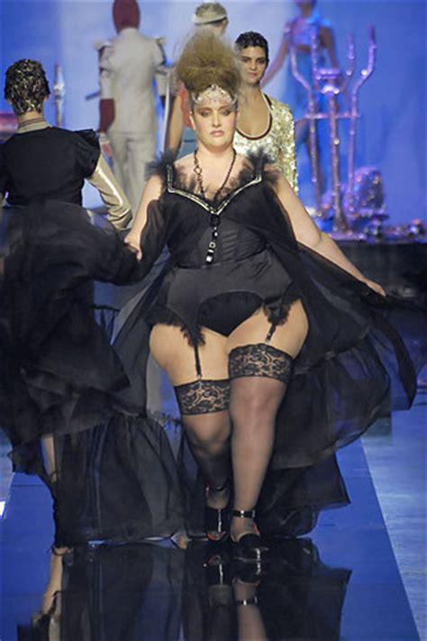 full figure bra model names jess world jean paul gaultier cone bra to supersize model